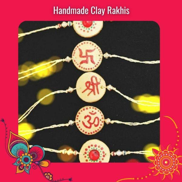 Handmade Clay Rakhi Set