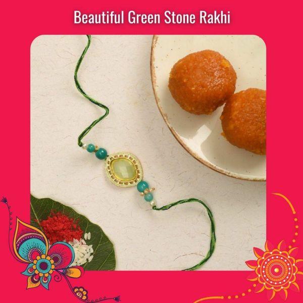 Green Stone Rakhi