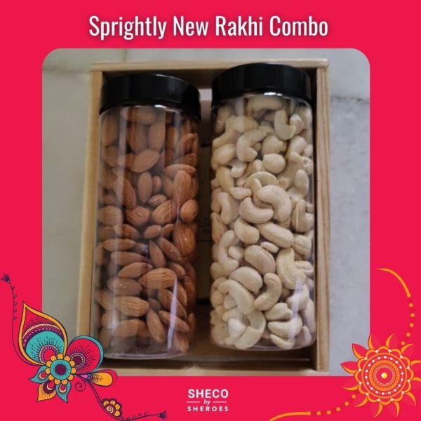 Sprightly Dry Fruit Hamper Rakhi Combo