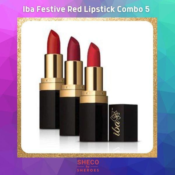 Iba Festive Red Lipstick Combo 5