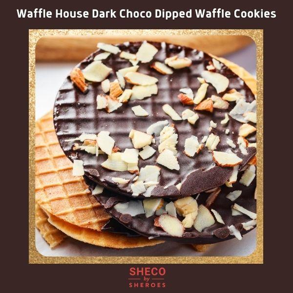 Waffle House Dark Choco Dipped Waffle Cookies
