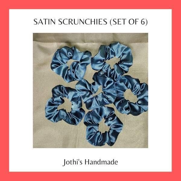 Silk Satin Scrunchies
