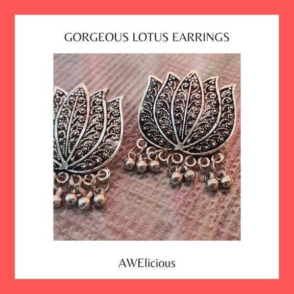 Gorgeous Lotus Earrings