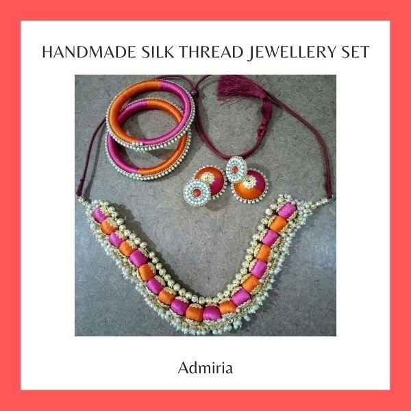 Handmade Silk Thread Jewellery Set