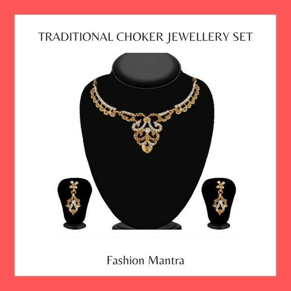 Jewelmaze Traditional Choker Jewellery Set