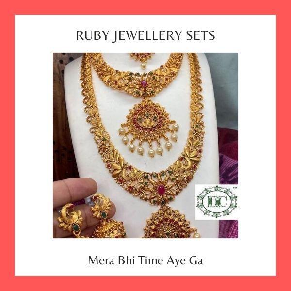 Ruby Jewellery Sets