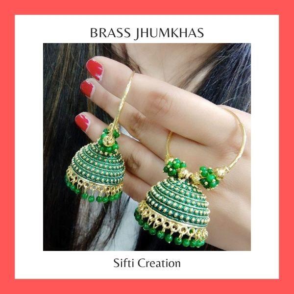 Brass Jhumkhas