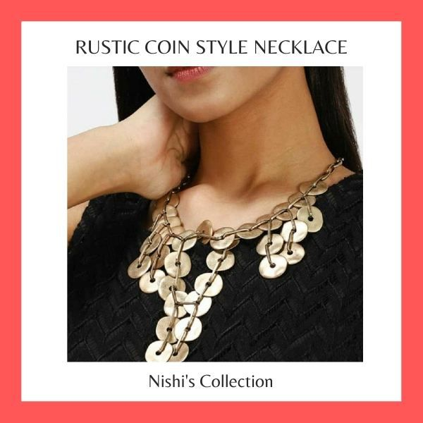Rustic Coin Style Necklace