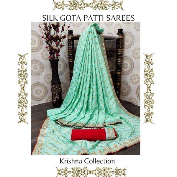 Silk Gota Patti Sarees
